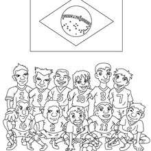 Coloriage EQUIPE FOOT BRESIL