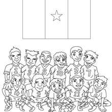 Coloriage EQUIPE FOOT CAMEROUN