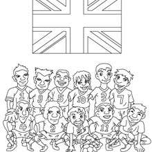 Coloriage EQUIPE FOOT ANGLETERRE