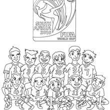 Coloriage Equipe De France Football 2018.Coloriages Coloriage Equipe Foot France Fr Hellokids Com