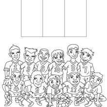 Coloriage EQUIPE FOOT FRANCE - Coloriage - Coloriage SPORT - Coloriage COUPE DU MONDE DE FOOTBALL - Coloriage EQUIPES DE FOOT