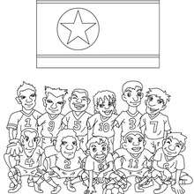 Coloriage EQUIPE FOOT COREE DU NORD - Coloriage - Coloriage SPORT - Coloriage COUPE DU MONDE DE FOOTBALL - Coloriage EQUIPES DE FOOT