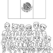 Coloriage EQUIPE FOOT MEXIQUE - Coloriage - Coloriage SPORT - Coloriage COUPE DU MONDE DE FOOTBALL - Coloriage EQUIPES DE FOOT