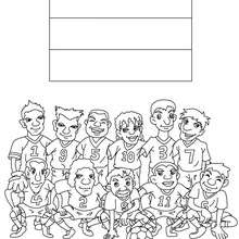 Coloriage EQUIPE FOOT PAYS-BAS