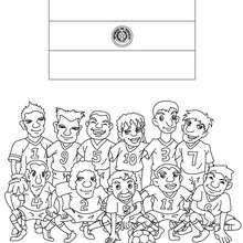 Coloriage EQUIPE FOOT PARAGUAY