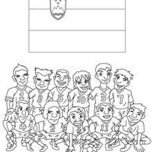 Coloriage EQUIPE FOOT SLOVENIE
