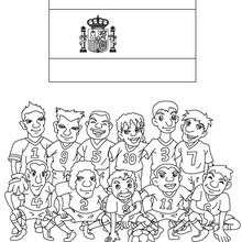 Coloriage EQUIPE FOOT ESPAGNE