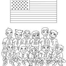 Coloriage EQUIPE FOOT USA - Coloriage - Coloriage SPORT - Coloriage COUPE DU MONDE DE FOOTBALL - Coloriage EQUIPES DE FOOT