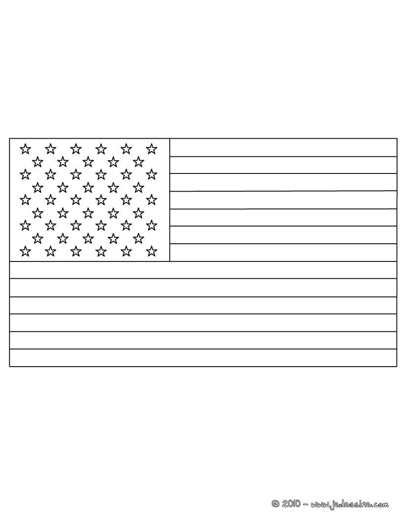 coloriage du drapeau des etats unis