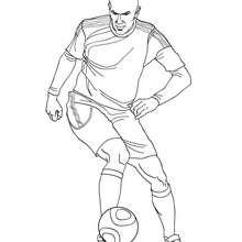 Coloriage : Zinedine Zidane