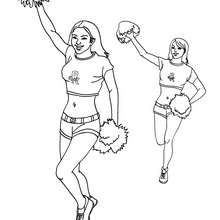 Coloriage des POM-POM Girls - Coloriage - Coloriage SPORT - Coloriage BASKETBALL - Coloriage NBA