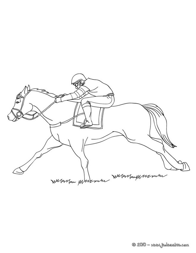 man riding horse coloring pages - photo#24