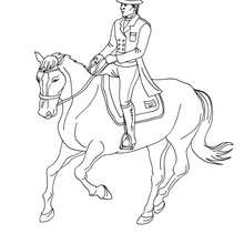 Coloriage : Cheval au trot à colorier