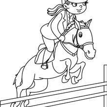 Coloriage d'un SECOND GALOP - Coloriage - Coloriage SPORT - Coloriage EQUITATION - Coloriage JUMPING
