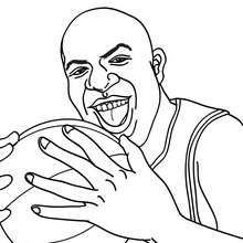 Coloriage de MAGIC JOHNSON - Coloriage - Coloriage SPORT - Coloriage BASKETBALL - Coloriage STARS du BASKETBALL