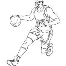 MAGIC JOHNSON à colorier - Coloriage - Coloriage SPORT - Coloriage BASKETBALL - Coloriage STARS du BASKETBALL
