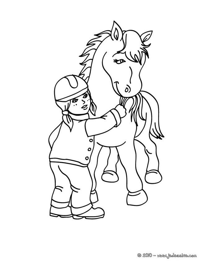 Coloriages cavaliere brossant son cheval colorier - Dessin cavaliere ...