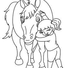 Coloriage CHEVAL sortant de son BOX