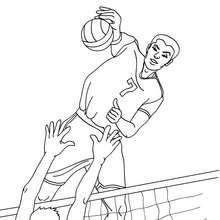 JOUEURS DE VOLLEYBALL à colorier - Coloriage - Coloriage SPORT - Coloriage VOLLEYBALL