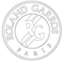 Coloriage ROLAND GARROS - Coloriage - Coloriage SPORT - Coloriage TENNIS
