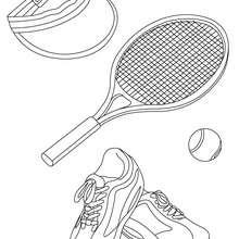 Coloriage matériel TENNIS - Coloriage - Coloriage SPORT - Coloriage TENNIS