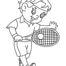 Coloriage d'un enfant TENNISMAN