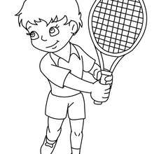 Coloriage : Enfant TENNISMAN à colorier