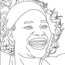 Coloriage : VENUS WILLIAMS à colorier