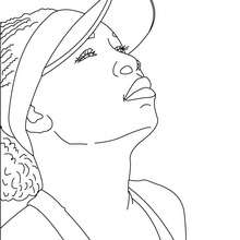 Coloriage : SERENA WILLIAMS à colorier