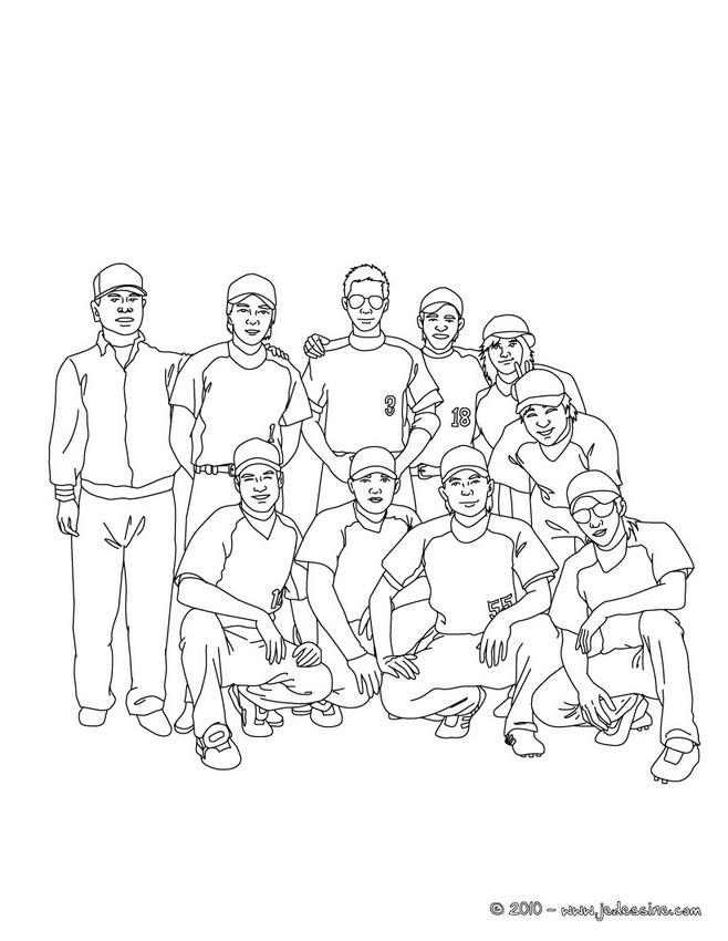 Coloriages equipe de baseball colorier - Dessin equipe de foot ...