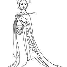 Coloriage PRINCESSE CHINOISE - Coloriage - Coloriage PRINCESSE - Coloriage PRINCESSES CHINOISES
