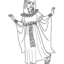 Coloriage PRINCESSE EGYPTIENNE