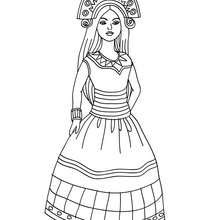Coloriage PRINCESSE INCA - Coloriage - Coloriage PRINCESSE - Coloriage PRINCESSES INCAS