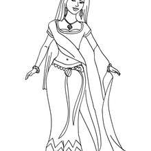 Coloriage PRINCESSE INDIENNE