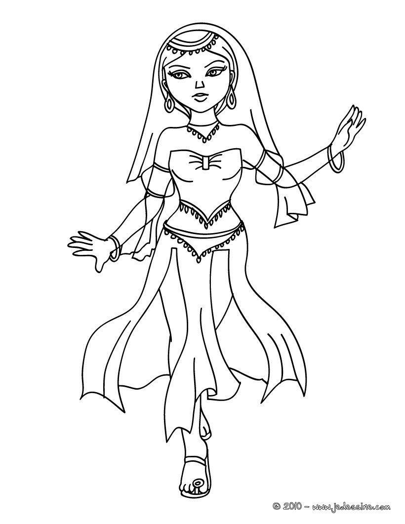 Coloriages coloriage princesse perse - Coloriage en ligne princesse ...