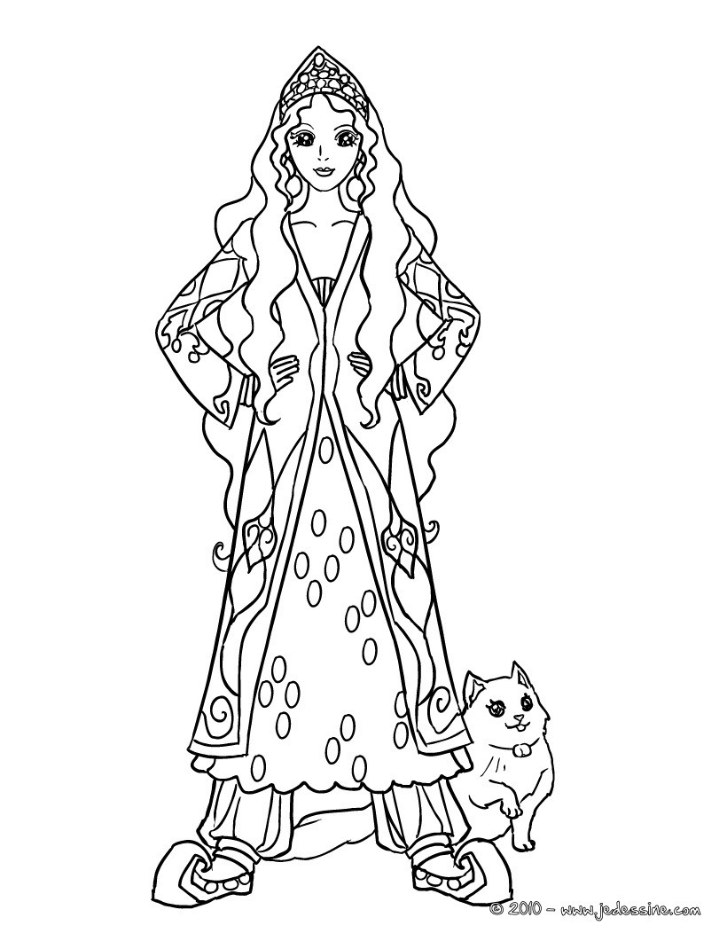 Coloriages coloriage princesse manga gratuit fr - Dessin anime barbie princesse ...