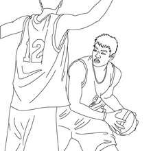 Coloriage d'une DEFENSE de ZONE - Coloriage - Coloriage SPORT - Coloriage BASKETBALL - Coloriage BASKET