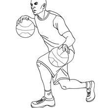 Coloriage HARLEM GLOBE TROTTERS