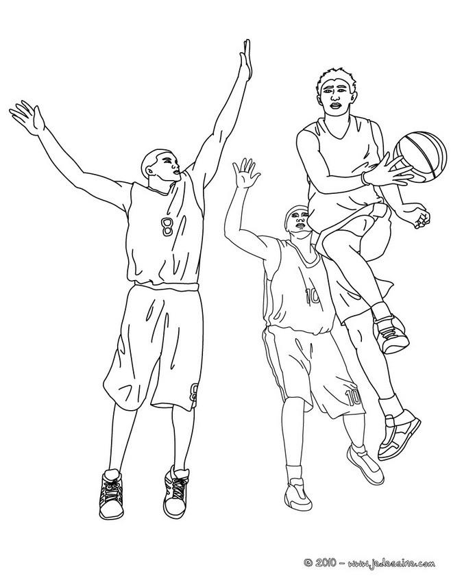 Magnífico Baloncesto Colorear Jugadores Nba Jugadores Ornamento ...
