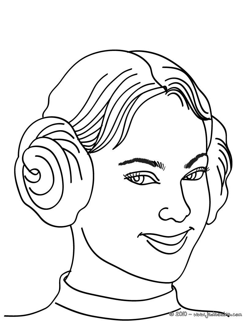Coloriage d'une PRINCESSE gratuit en ligne