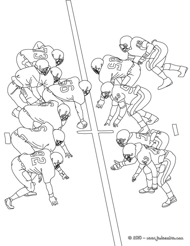 Coloriage Football Americain.Coloriages Football Americain A Colorier Fr Hellokids Com
