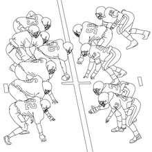 FOOTBALL AMERICAIN à colorier - Coloriage - Coloriage SPORT - Coloriage FOOTBALL AMERICAIN