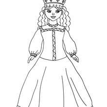Coloriage PRINCESSE RUSSE