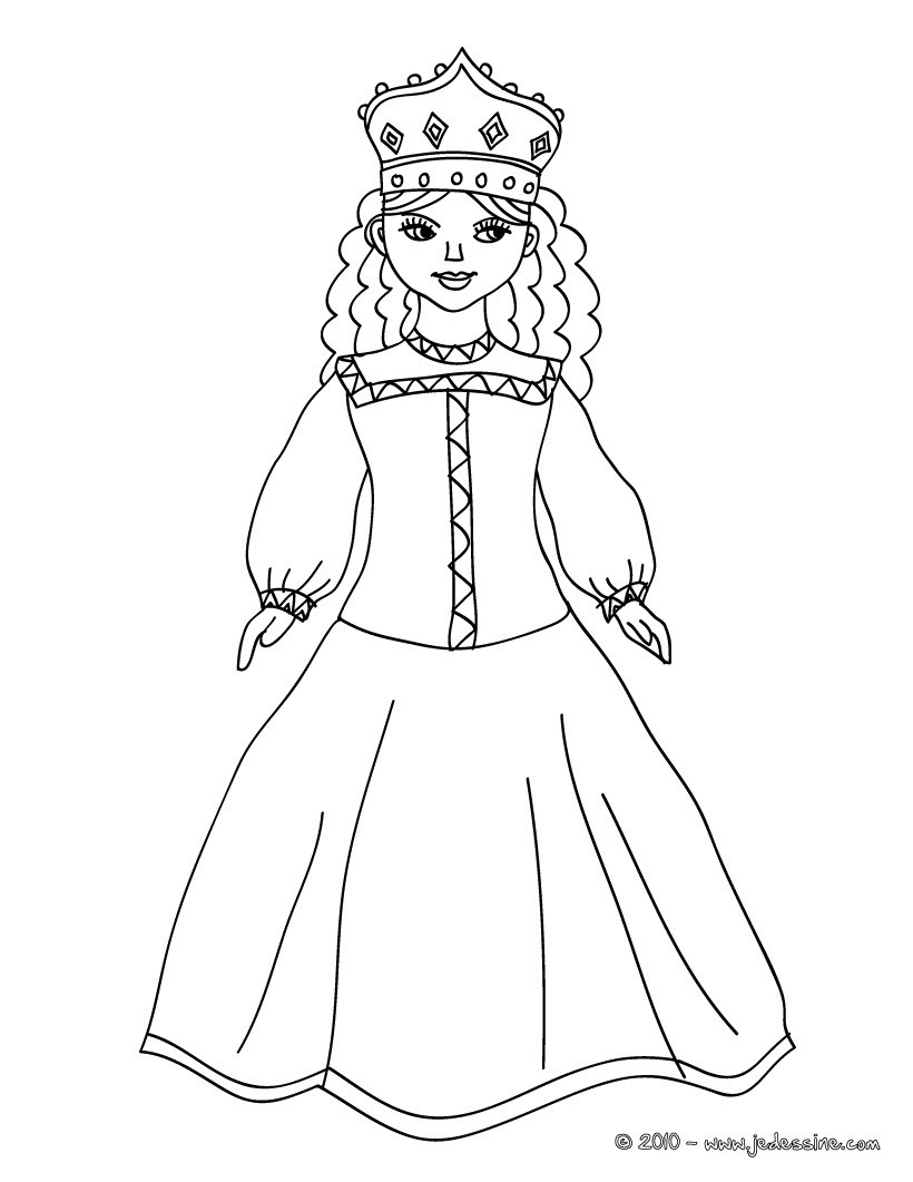 Coloriages coloriage princesse russe - Coloriages princesse ...