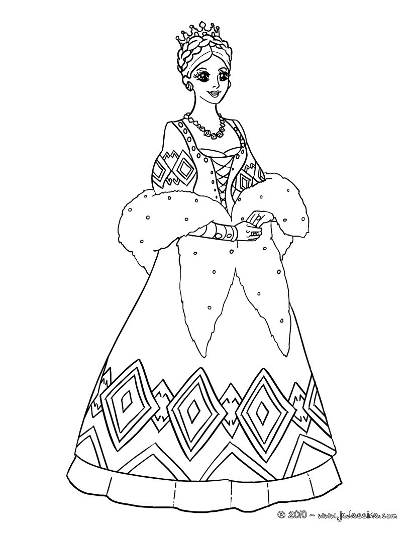 Coloriages princesse russe colorier - Coloriages princesse ...