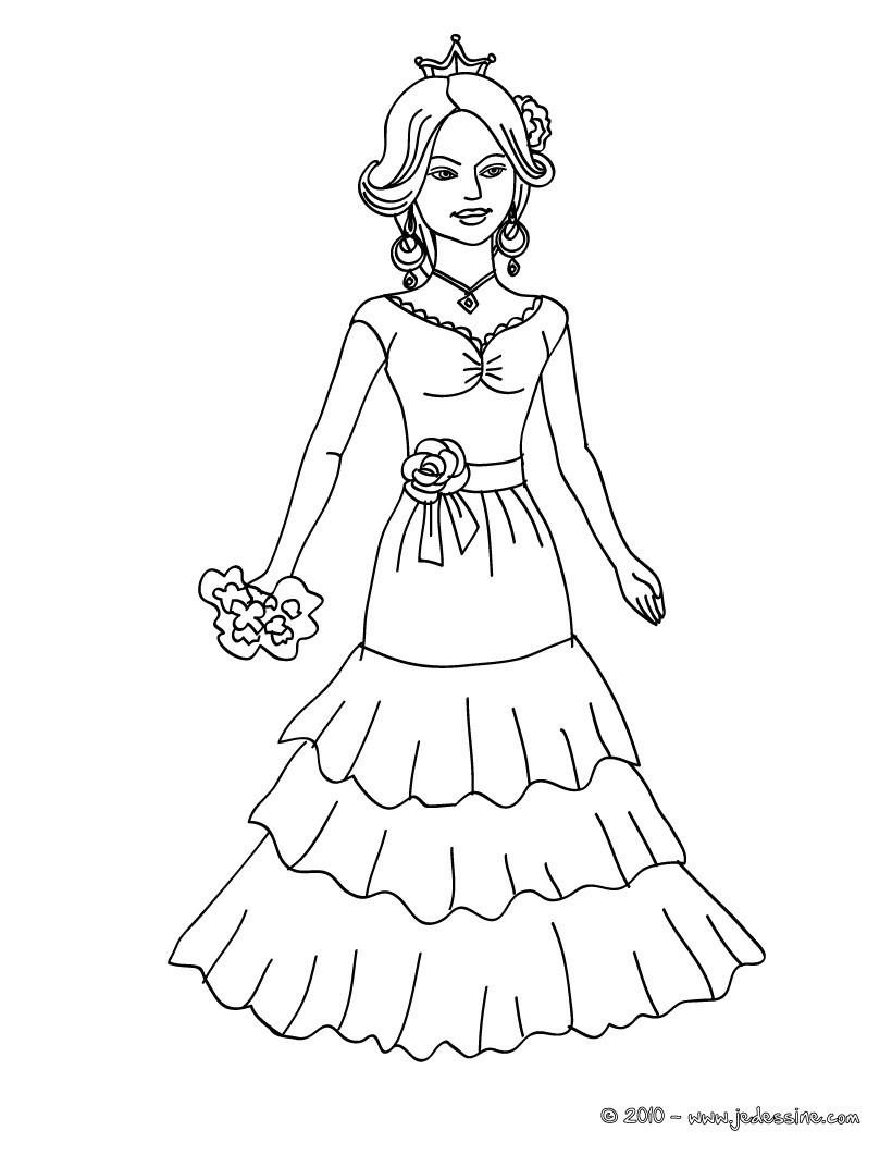 Coloriages princesse espagnole imprimer - Dessin espagne ...