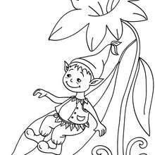 Coloriage ELFIQUE - Coloriage - Coloriage GRATUIT - Coloriage PERSONNAGE IMAGINAIRE - Coloriage ELFE