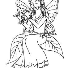 FEE KAWAII à colorier - Coloriage - Coloriage GRATUIT - Coloriage PERSONNAGE IMAGINAIRE - Coloriage FEE