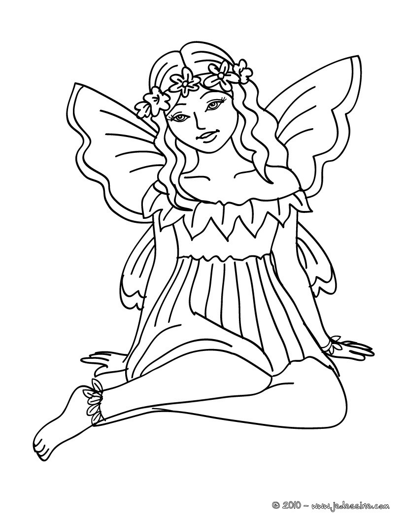 Coloriages coloriage fee imprimer - Fee coloriage ...