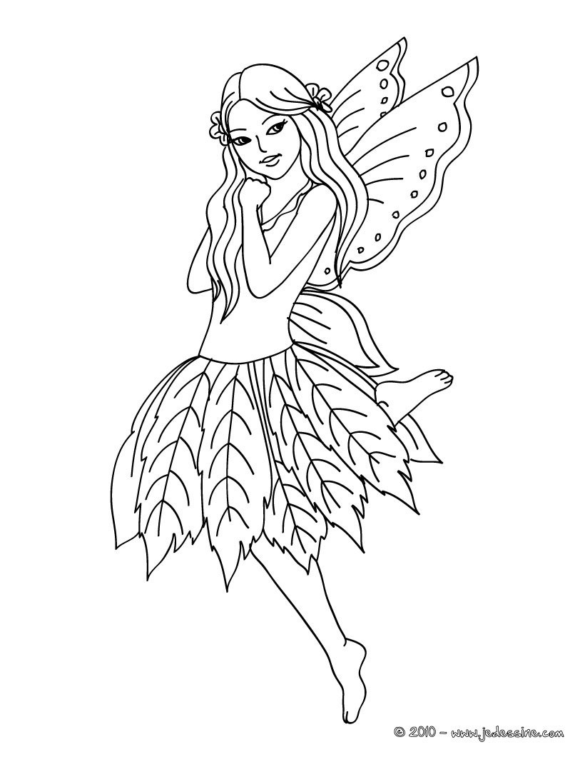Coloriages fee clochette colorier - Fee coloriage ...